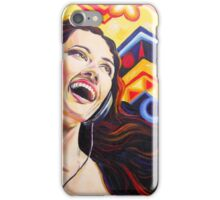 Girl listening music iPhone Case/Skin