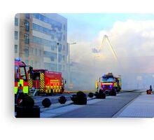 Firemen At Work......................................Derry Canvas Print