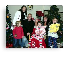 My Family With Mrs. Clause Canvas Print