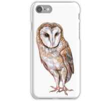 Barn owl drawing iPhone Case/Skin