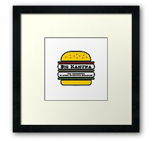 Big Kahuna Burger - The Cornerstone of every nutritious breakfast Framed Print