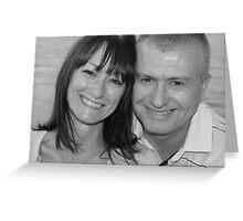 mum and chris black and white Greeting Card