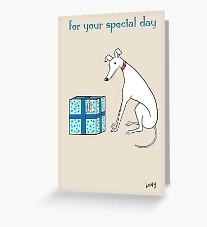 The Hound's Special Day Greeting Card