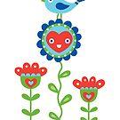 Happy - sweet print - multi by Andi Bird