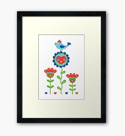 Happy - sweet print - multi Framed Print