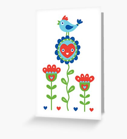 Happy - sweet print - multi Greeting Card