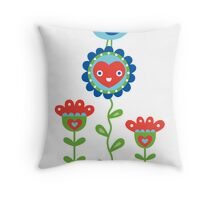 Happy - sweet print - multi Throw Pillow