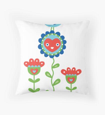 Happy - sweet print - multi Throw Pillow