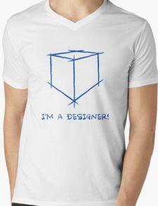 I'm a designer Mens V-Neck T-Shirt