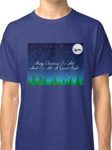 Santas Sleigh over the Moon Classic T-Shirt