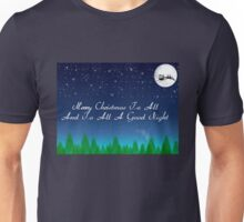 Santas Sleigh over the Moon Unisex T-Shirt