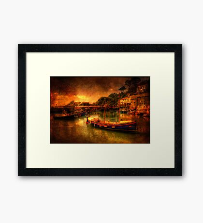 Polperro Harbour Framed Print