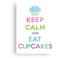 Keep Calm and Eat Cupcakes - pastel Metal Print