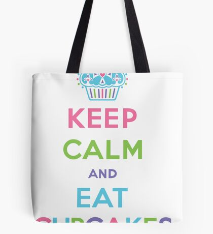 Keep Calm and Eat Cupcakes - pastel Tote Bag