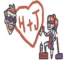 Joker and Harley true love! Photographic Print