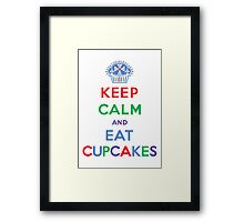 Keep Calm and Eat Cupcakes- primary Framed Print