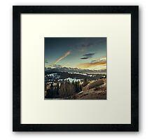 Sunset Landscape Framed Print