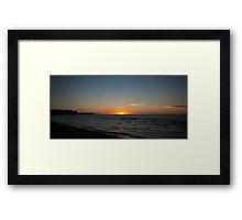 The Last Sunset Framed Print