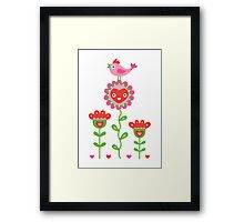 Happy - sweet print Framed Print