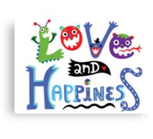 Love & Happiness Canvas Print