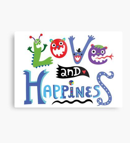 Love & Happiness Metal Print