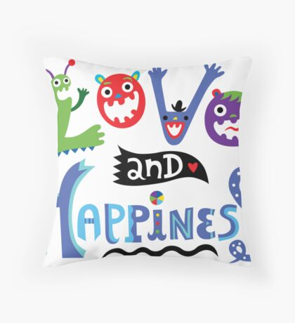 Love & Happiness Throw Pillow