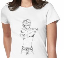 Strip Womens Fitted T-Shirt