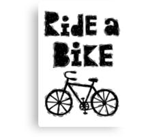 Ride a Bike - woody  Canvas Print
