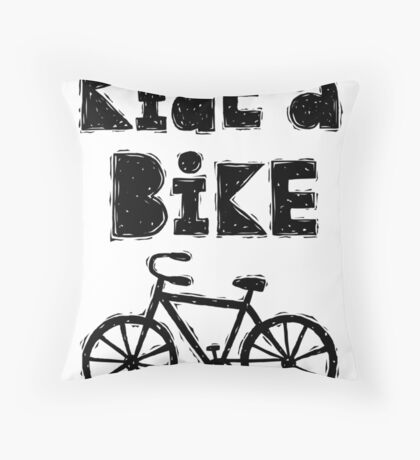 Ride a Bike - woody  Throw Pillow