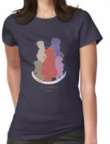 Clannad girls - colored silhouettes Womens Fitted T-Shirt