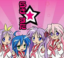 Lucky Star Main Characters by kraftkirby