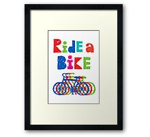 Ride a bike - sketchy - white Framed Print