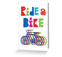 Ride a bike - sketchy - white Greeting Card