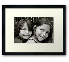 Mattea & Tina Framed Print
