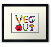 Veg Out - white Framed Print