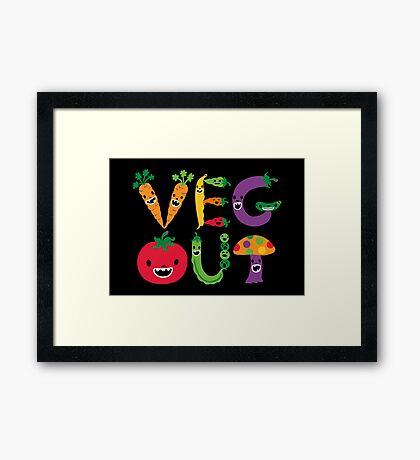 Veg Out - black Framed Print