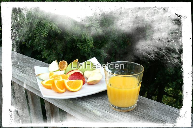 Fresh Fruit and Orange Juice. by Lynne Haselden