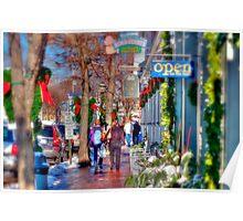 Christmas Shopping in Ogunquit Poster