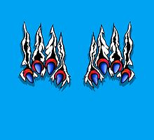 Ripping Monster Claws Demon Inside Red and Blue by Sookiesooker