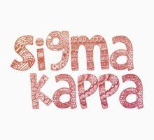 Sigma Kappa Tribal Sticker by Kristin Sheaffer
