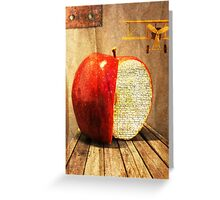 the undisturbed life of an apple Greeting Card