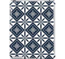 Navy 1950s Inspired Diamonds iPad Case/Skin