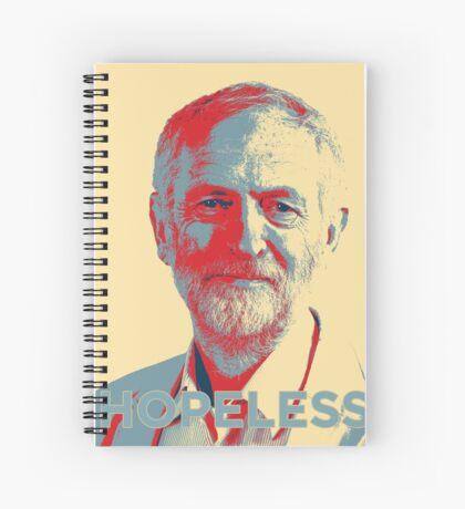 Labour Leadership Hopeless Jeremy Spiral Notebook