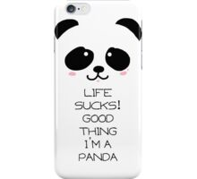 Emo Panda iPhone Case/Skin