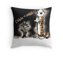 calvin and hobbes Throw Pillow