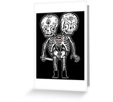 Calavera Twins Greeting Card