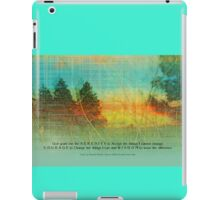 Serenity Prayer Colorful Trees iPad Case/Skin