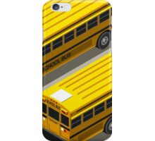 School Bus Vehicle Isometric iPhone Case/Skin