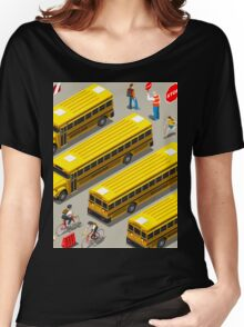 School Bus Vehicle Isometric Women's Relaxed Fit T-Shirt
