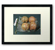 Peaches Delight Framed Print